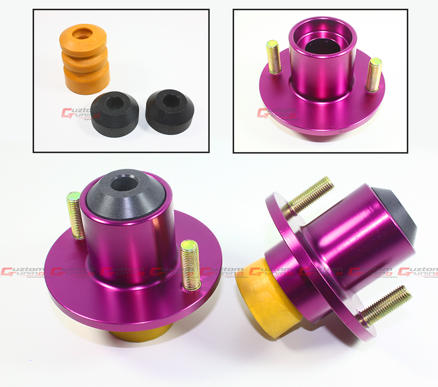 Coilover Top Hat: 88-2000 Honda Civic Purple Suspension Coilover Shocks