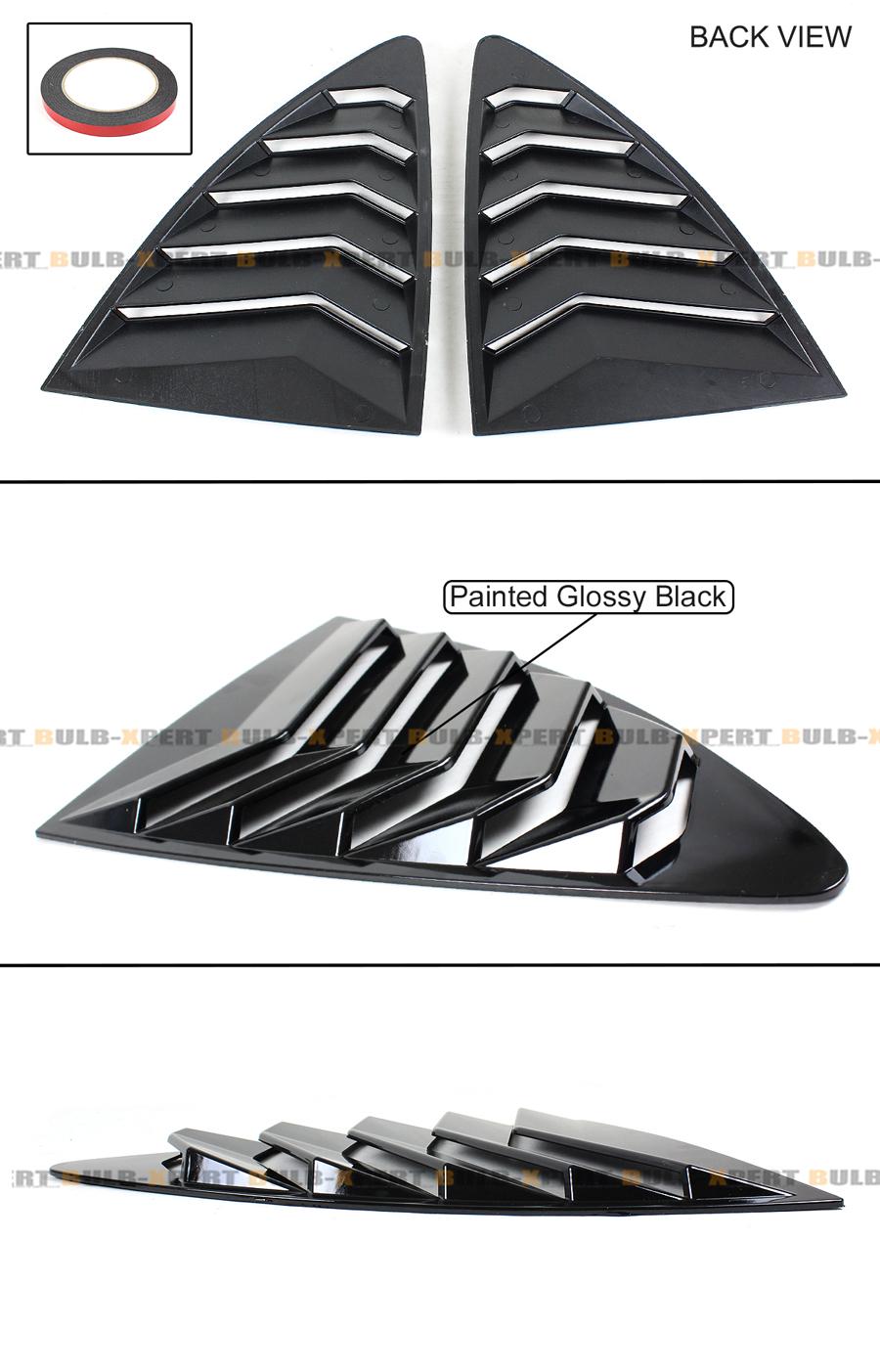 For 13-18 Scion FR-S 86 /& BRZ Gloss Blk JDM 1//4 Quarter Panel Side Window Louver