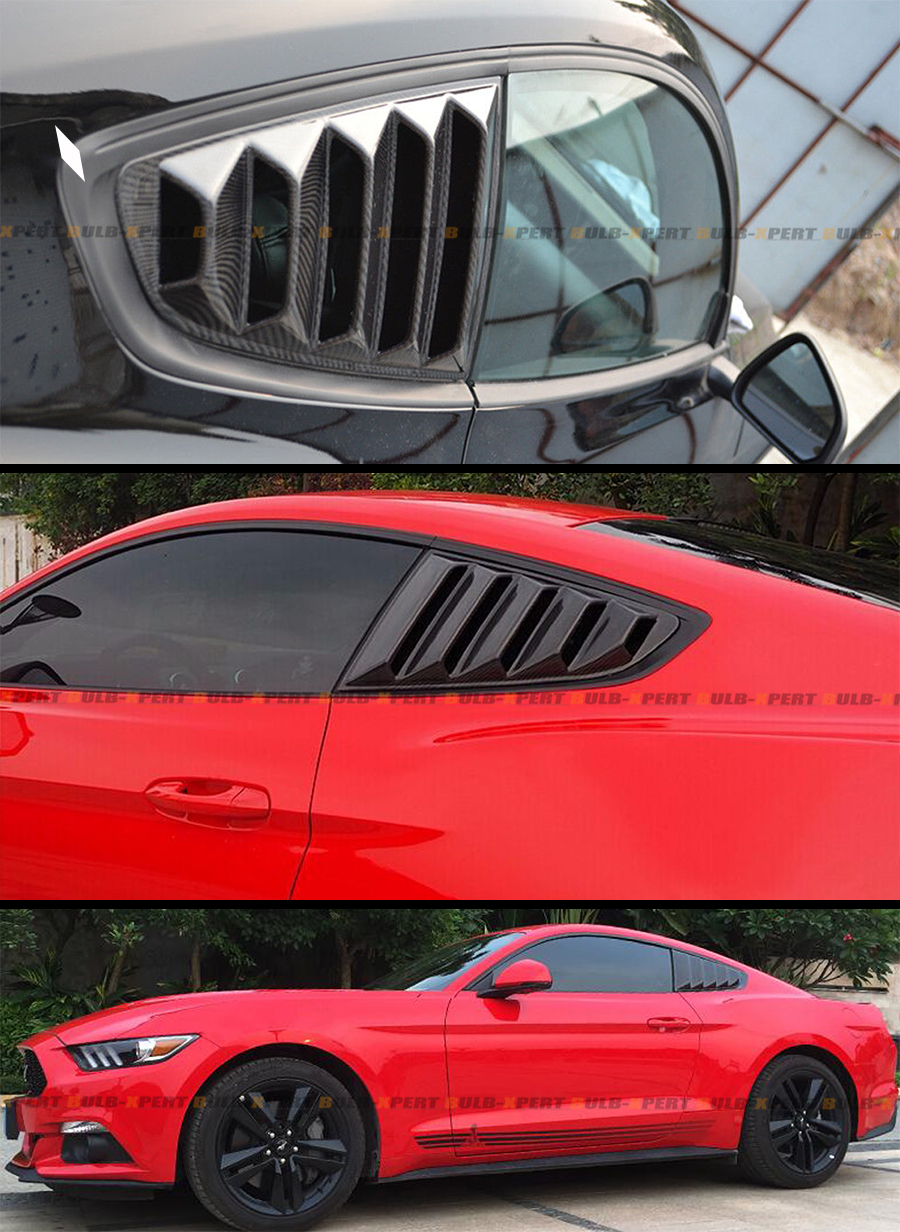 For Ford Mustang 2015-17 GT Carbon Fiber Side Window ...
