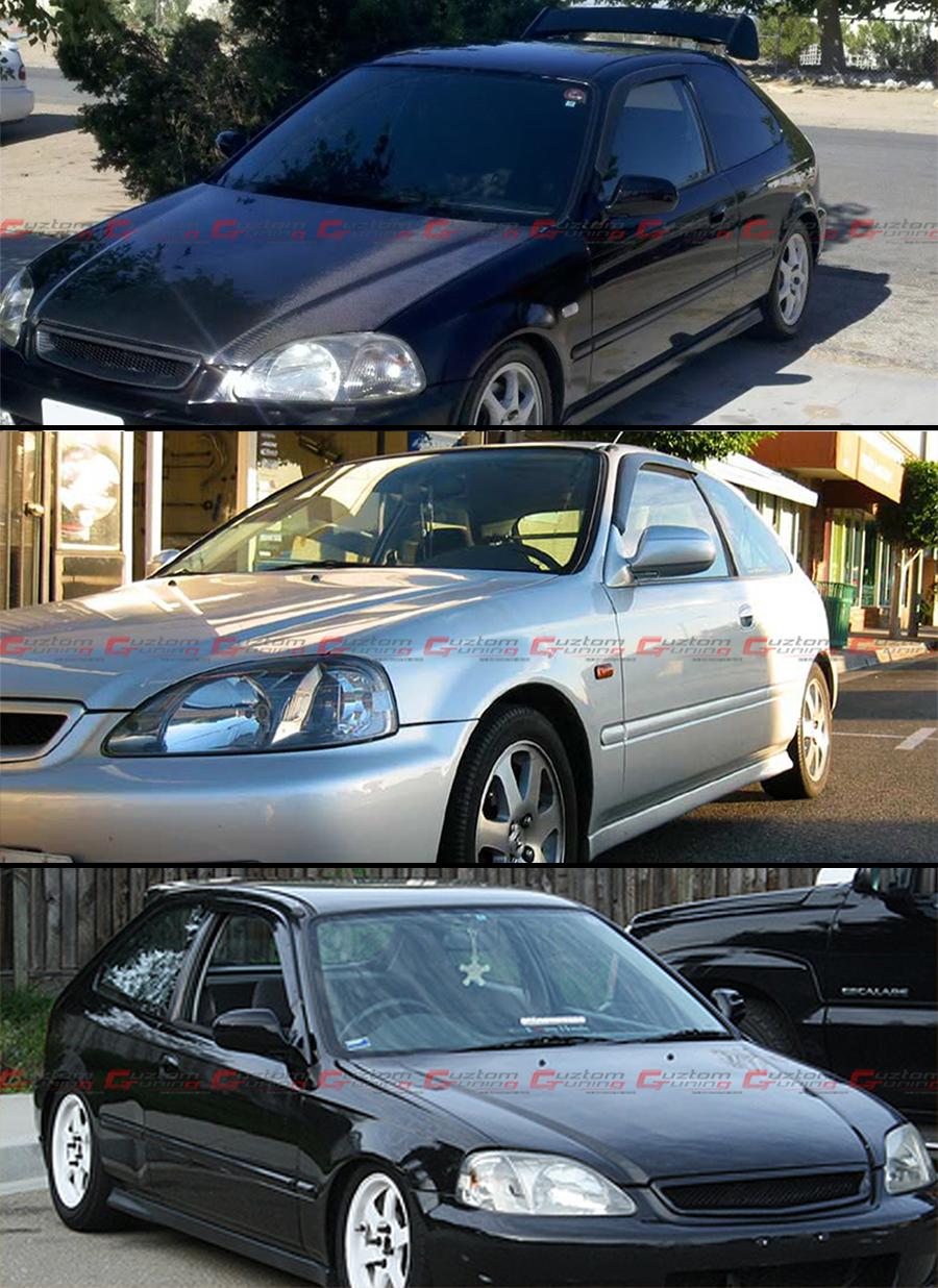 1996 2000 honda civic coupe amp hatchback jdm smoke tinted
