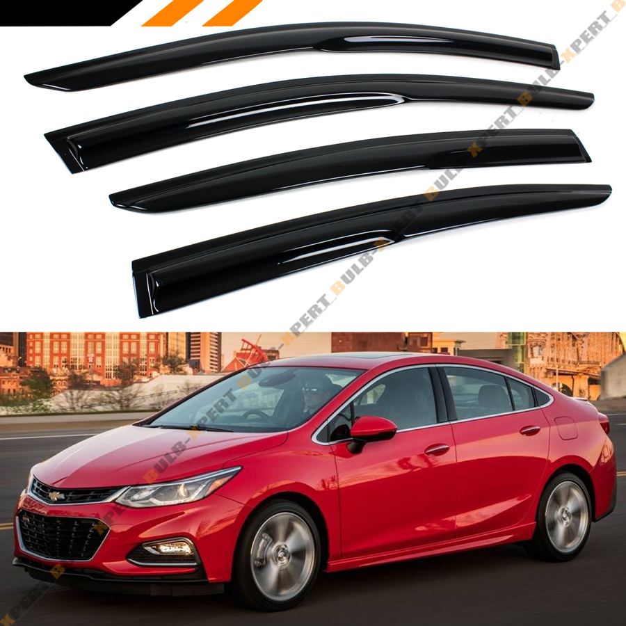 Chevy Cruze Lt >> Details About For 2017 2019 Chevy Cruze Lt Ls L 3d Wavy Window Visor Rain Guard Deflector