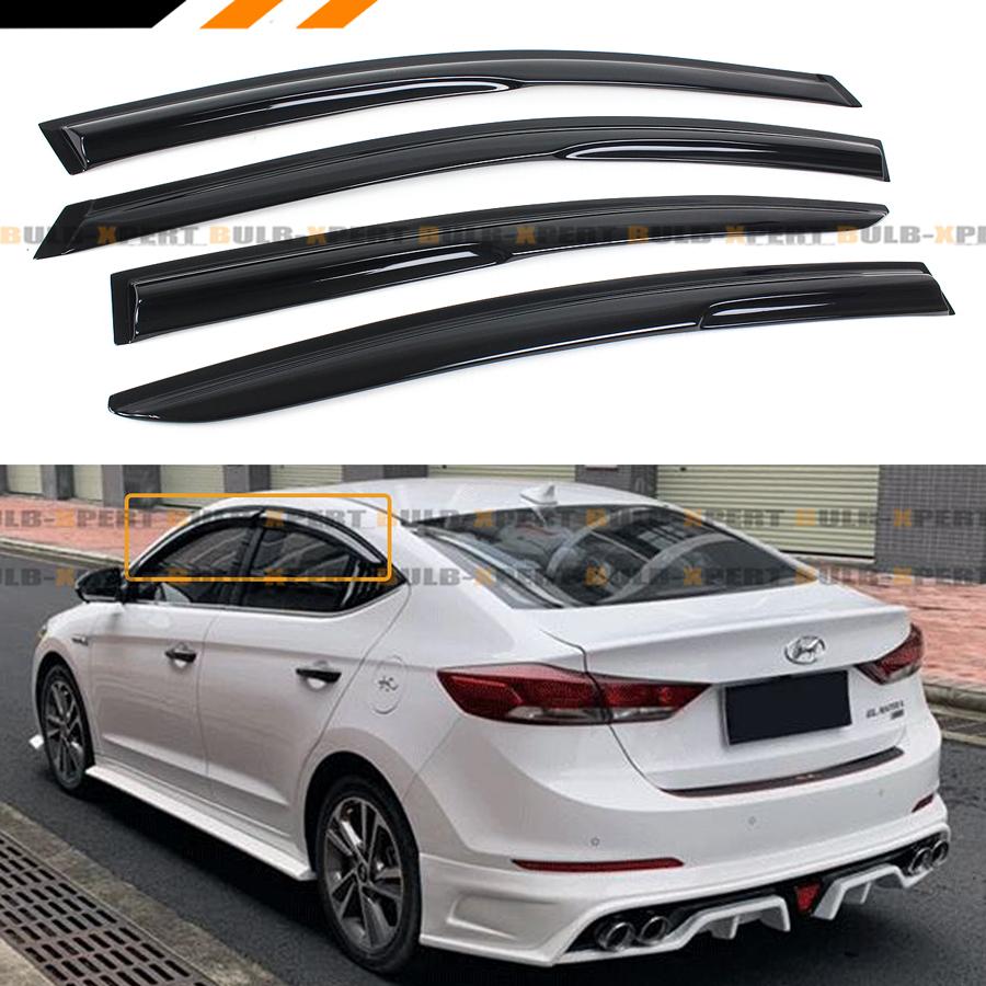 Fits Hyundai Elantra 17-19 AVS In Channel Ventvisor Window Visors Rain Guards