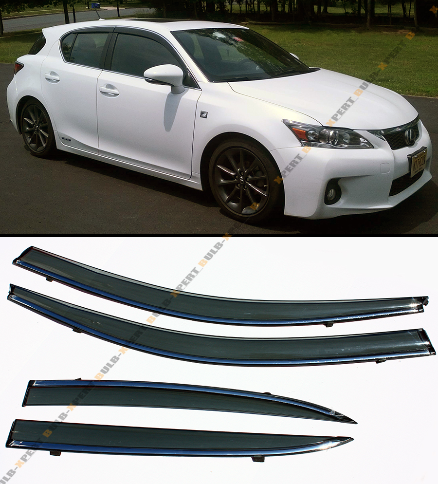 2011 Lexus Ct Suspension: JDM SMOKE TINTED WINDOW VISOR WTIH CHROME TRIM FITS ZWA10