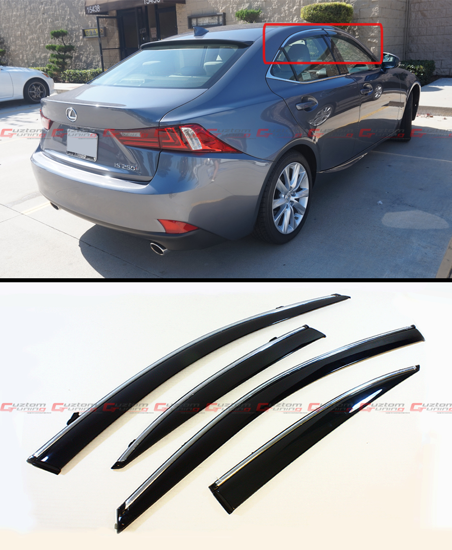 2014-2017 LEXUS IS250 IS350 IS200T VIP STYLE CLIP ON SMOKE