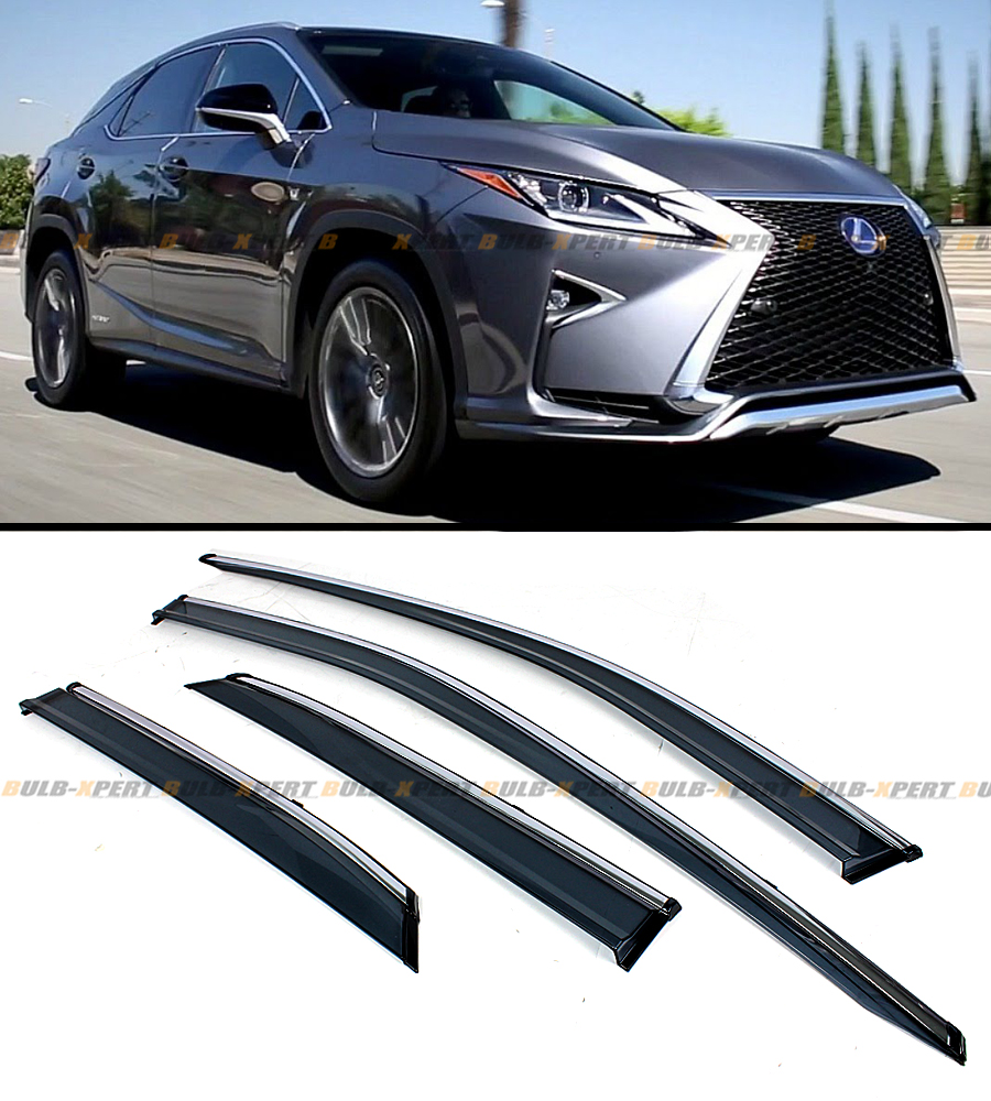 2016 LEXUS RX350 RX450H VIP CLIP-ON SMOKE TINTED WINDOW