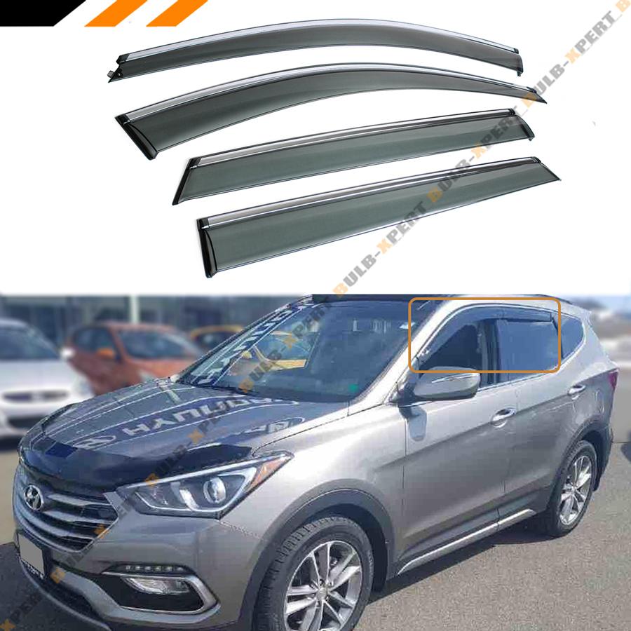 Fits 13-18 Hyundai Santa Fe Acrylic Window Visors 4Pc Set