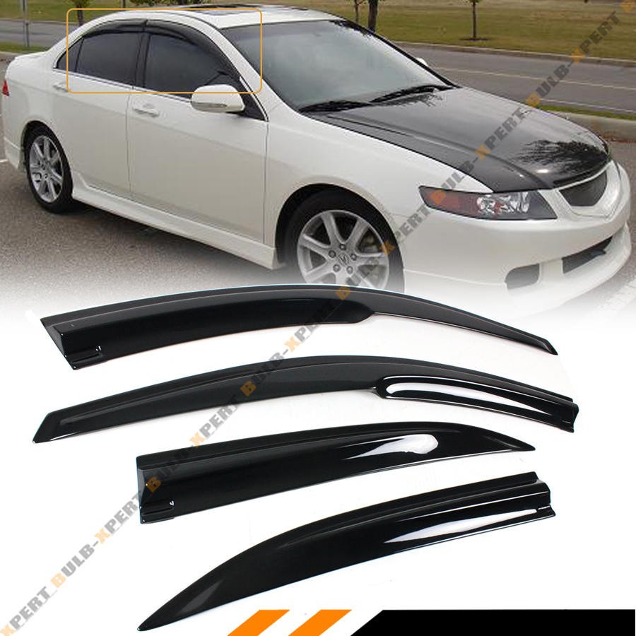 FOR 2004-2008 ACURA TSX CL8 EURO-R JDM 3D WAVY WINDOW
