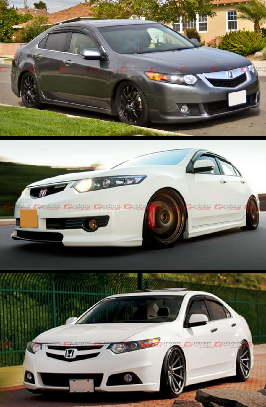 2009 14 Acura Tsx 4 Door Sedan Cu2 Mugen Style Smoke