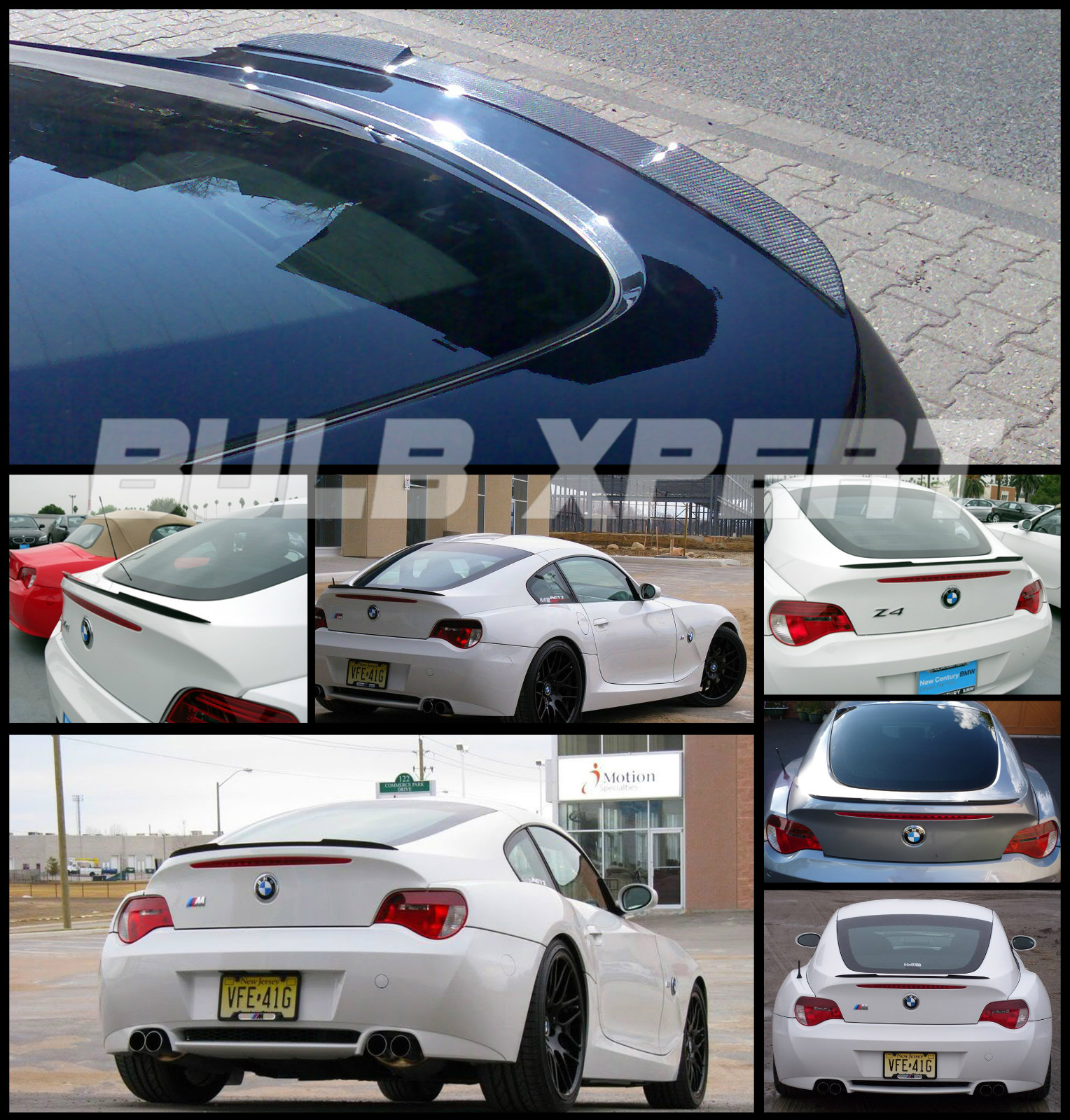 Bmw Z4m Coupe: FLUSH FIT REAL DRY CARBON FIBER TRUNK LID SPOILER WING FOR