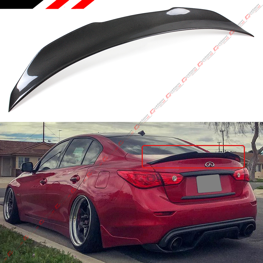 FOR 2014-19 INFINITI Q50 PSM STYLE HIGH KICK CARBON FIBER