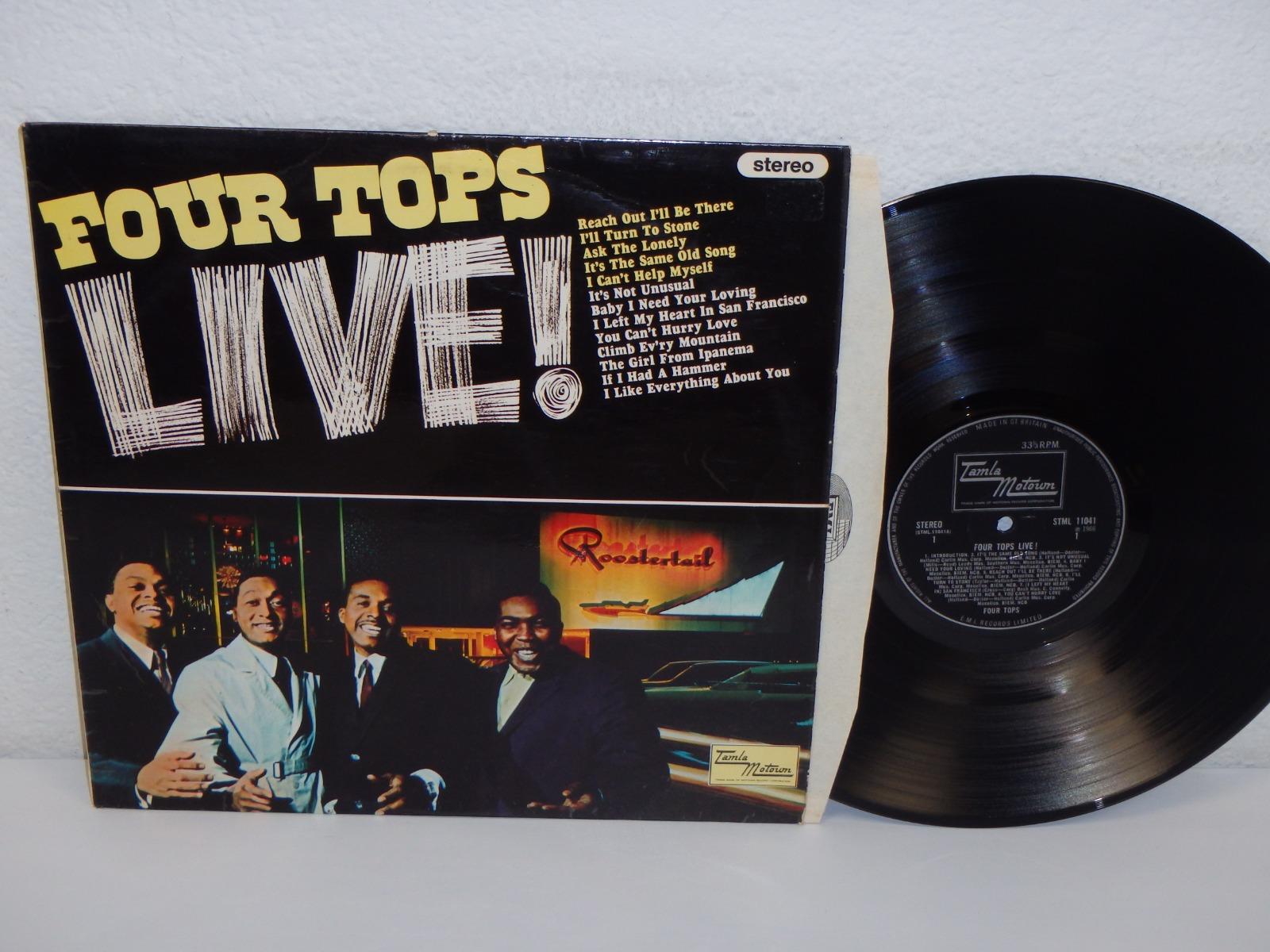 Details about FOUR TOPS Four Tops Live 1967 UK Pressing LP Tamla Motown  STML11041 SOUL