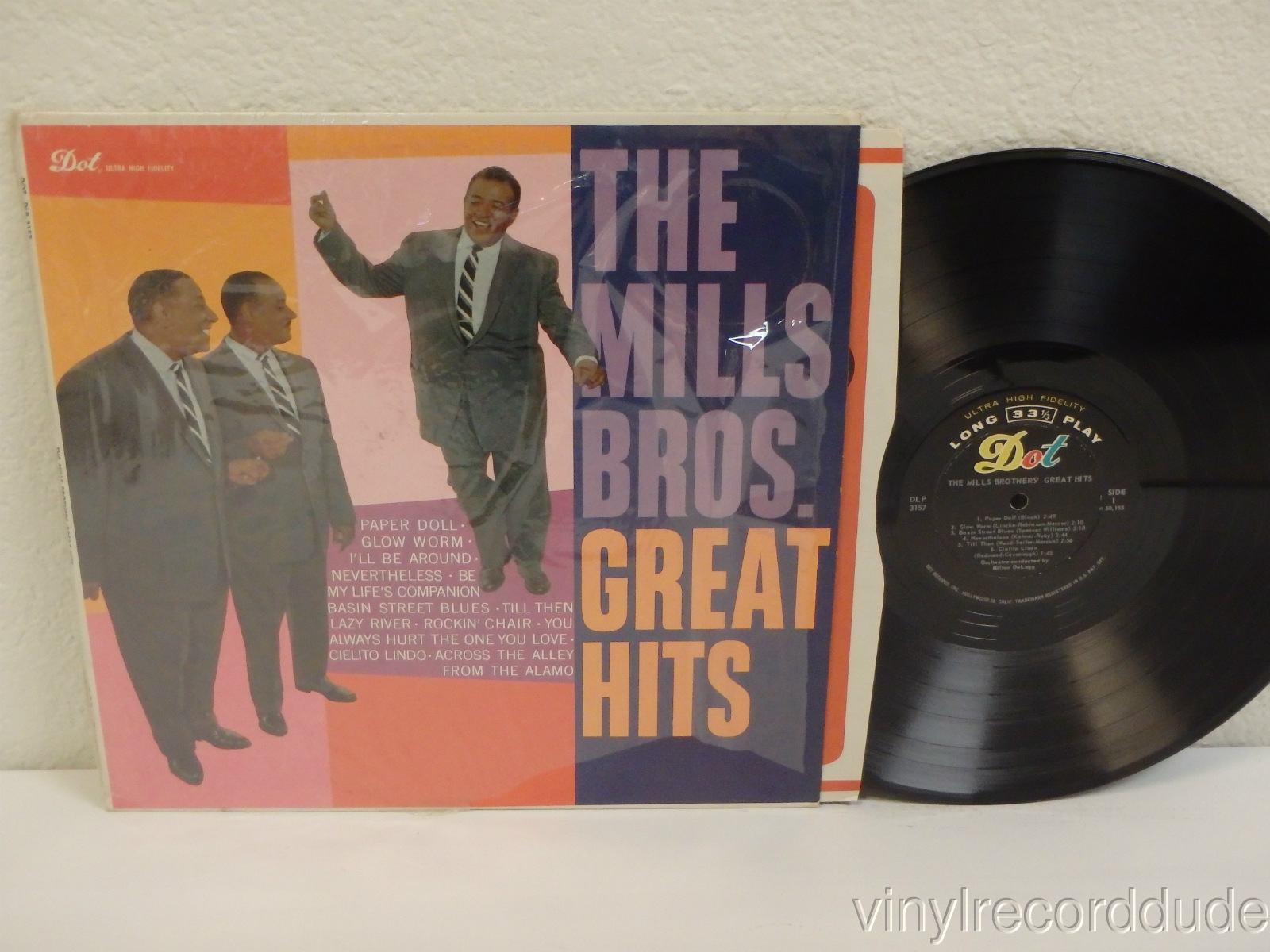 Details about THE MILLS BROTHERS Great Hits 1959 LP Dot Records DLP-3157  Mono 1st Press