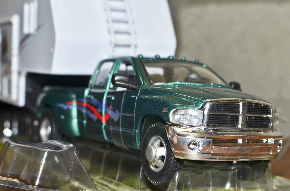 Truck Thwheel on Toy Dodge Ram 3500