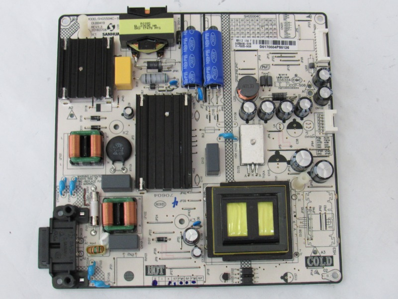 Hitachi 55R80 Power Supply Board 81-PBE055-H4C49