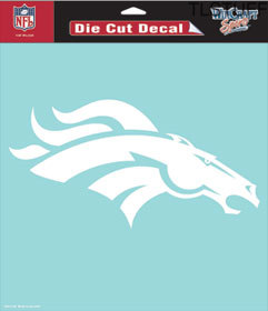 "NFL Denver Broncos Logo Die-Cut Decal 8"" x 8"" Whit"