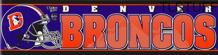 Denver Broncos NFL Bumper Sticker New Old Logo