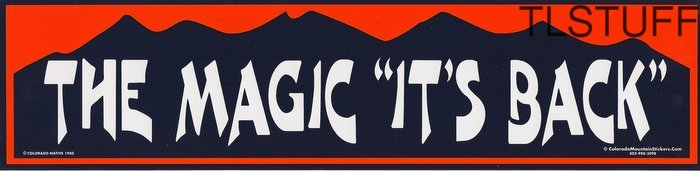 "Denver Broncos NFL Bumper Sticker The Magic ""Its B"