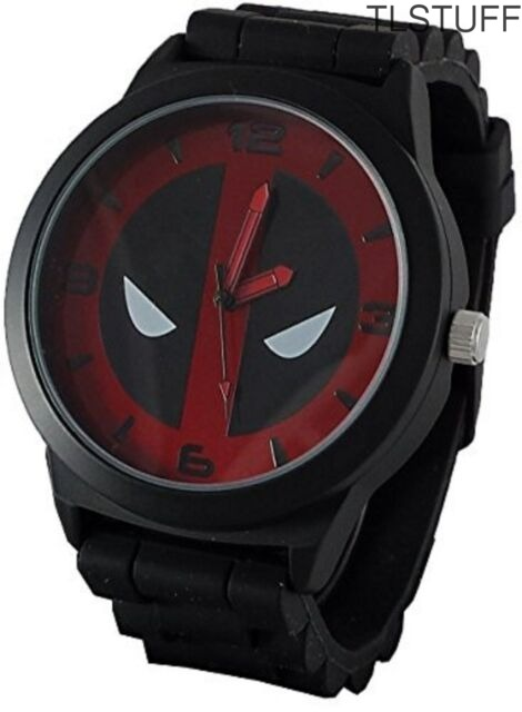 Accutime Marvel Deadpool Analog Watch Black Metal