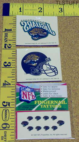 Jacksonville Jaguars Face Fingernail Tattoo Set St