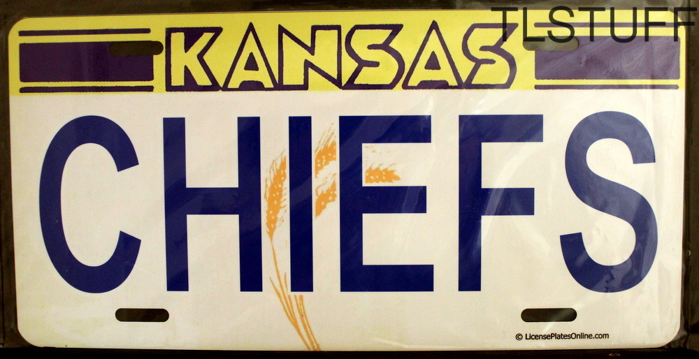 Kansas Chiefs License Plate Kansas Wheat Logo NFL