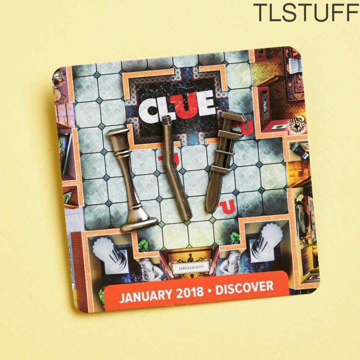 Clue 3 PC Pin Set Loot Crate DX Exclusive January