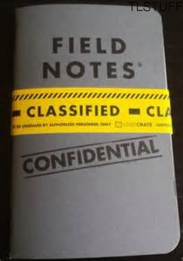 Loot Crate Exclusive Field Notes Confidential Edit