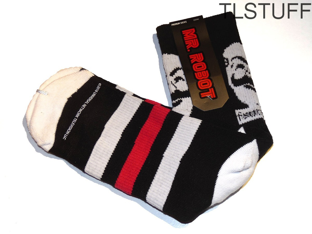 Mr. Robot F Society Athletic Socks Loot Crate Wear