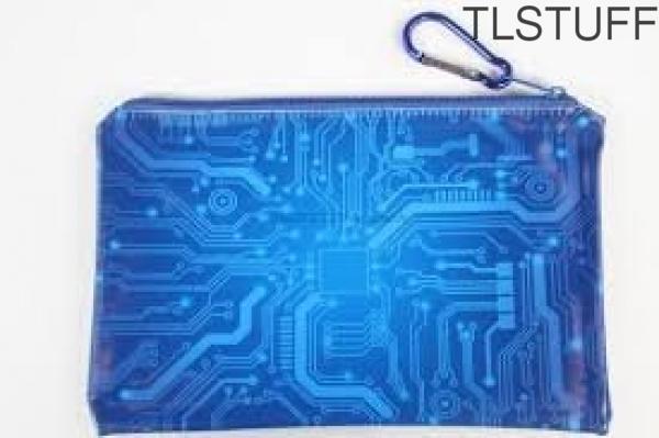 Glow In The Dark Circuit Gadget Zipper Pouch Loot