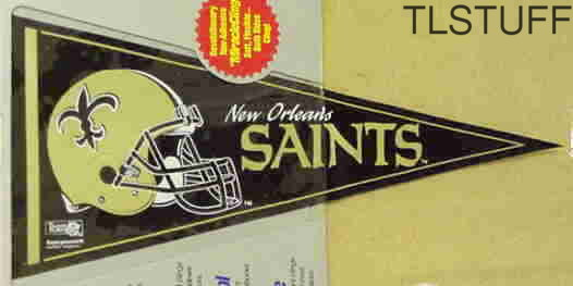 New Orleans Saints Cling Pennant Old Helmet Pre Fa