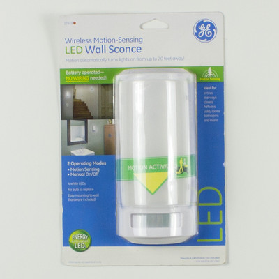 Wall Sconces That Run On Batteries : GE White LED Plastic Battery Operated Wall Sconce 17455 eBay