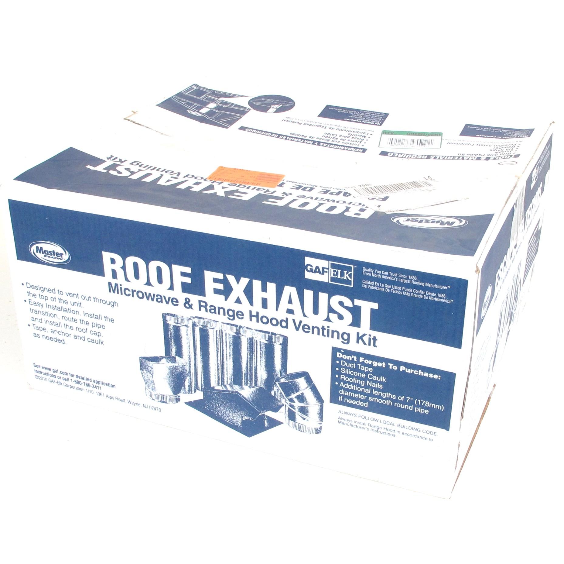 Master Flow Roof Exhaust Microwave Amp Range Hood Venting