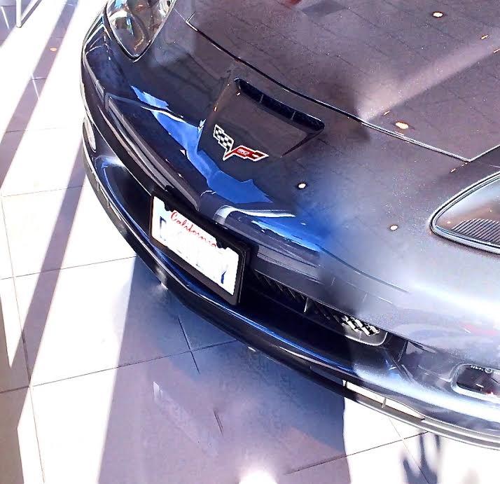 C4 Corvette Bellhousing Removal: Corvette C4 C5 C6 Drill Free Removable License Plate
