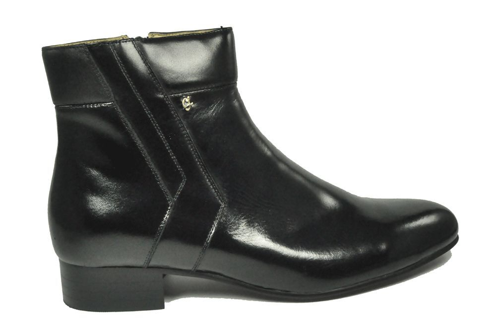 s sir imperial black leather dress boots 5731 01 wide