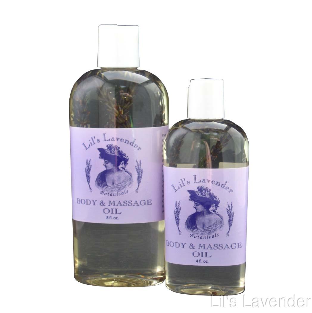 Lavender Body Massage Oil 8 oz.