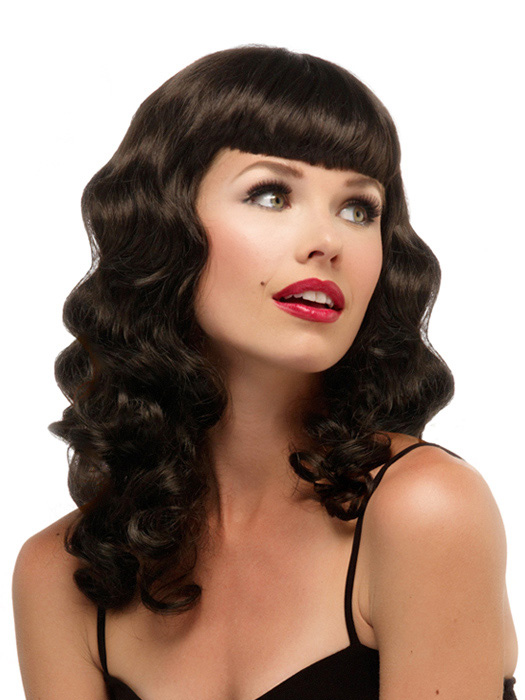 Peachy Pin Up Costume Wig By Jon Renau Bettie Page Rockabilly Girl Retro Short Hairstyles For Black Women Fulllsitofus