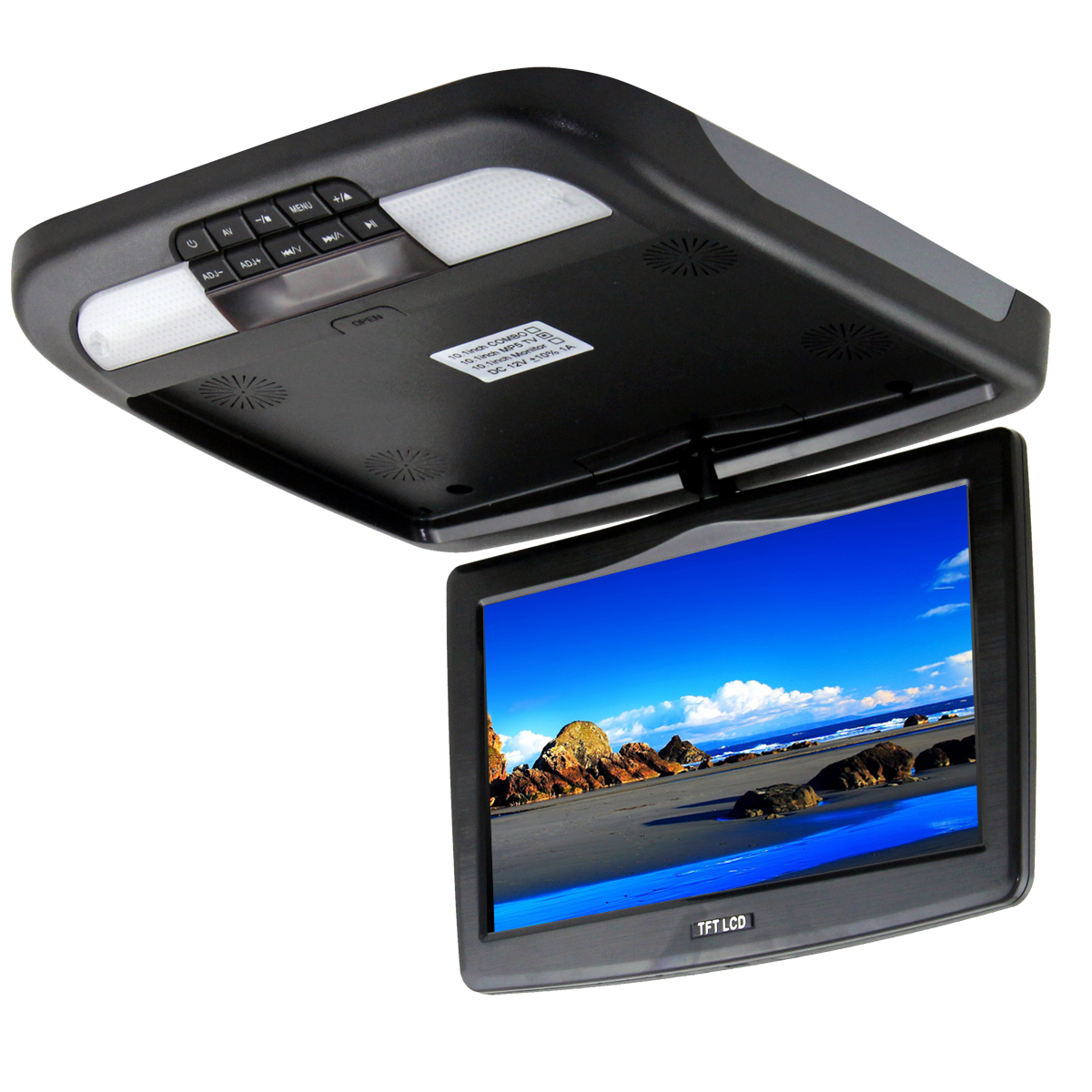 Best Quality Flip Down 11 6 Quot Roof Hd Monitor Dvd Usb Sd