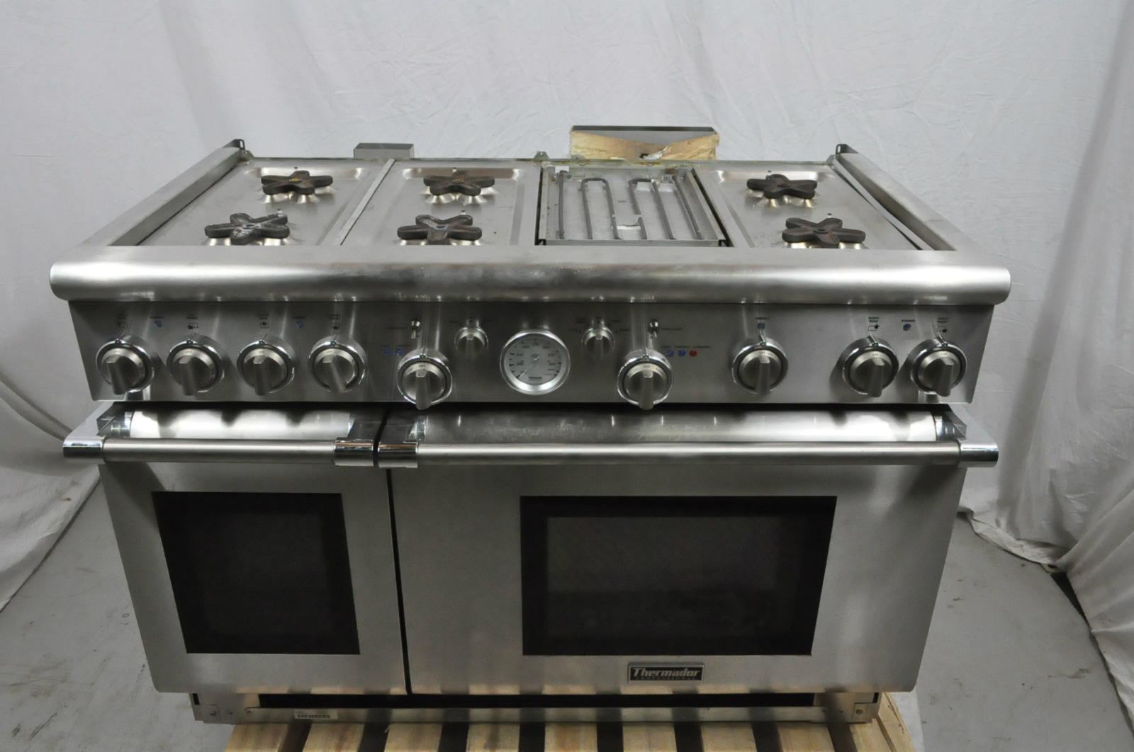 Thermador Pro Grand 48 Stainless Gas Range Prg486edg Used