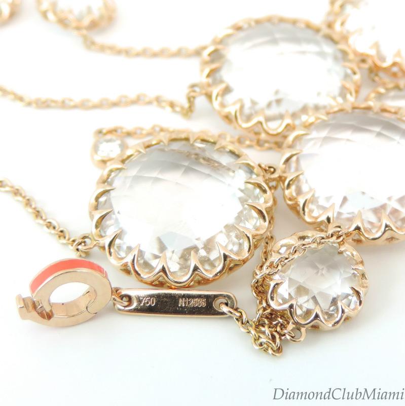 Ivanka Trump Rock Crystal & Diamond Long Necklace 18kt ...