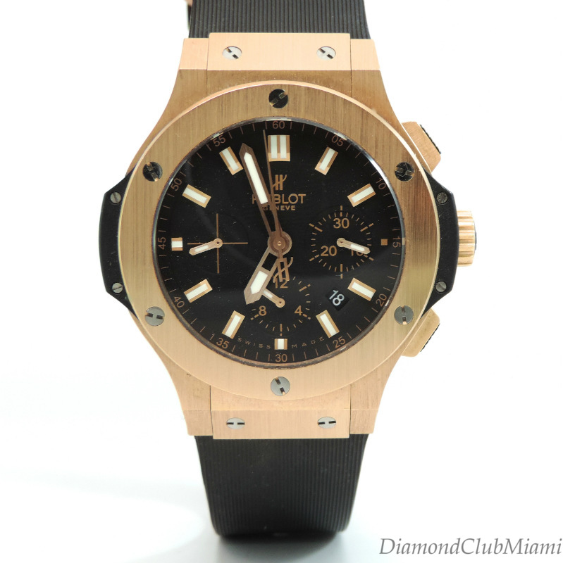 hublot big 18k gold chronograph automatic