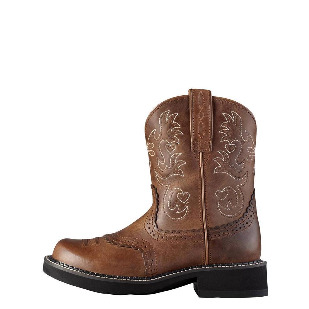 ariat boots womens fatbaby cowboy russet rebel 10000860