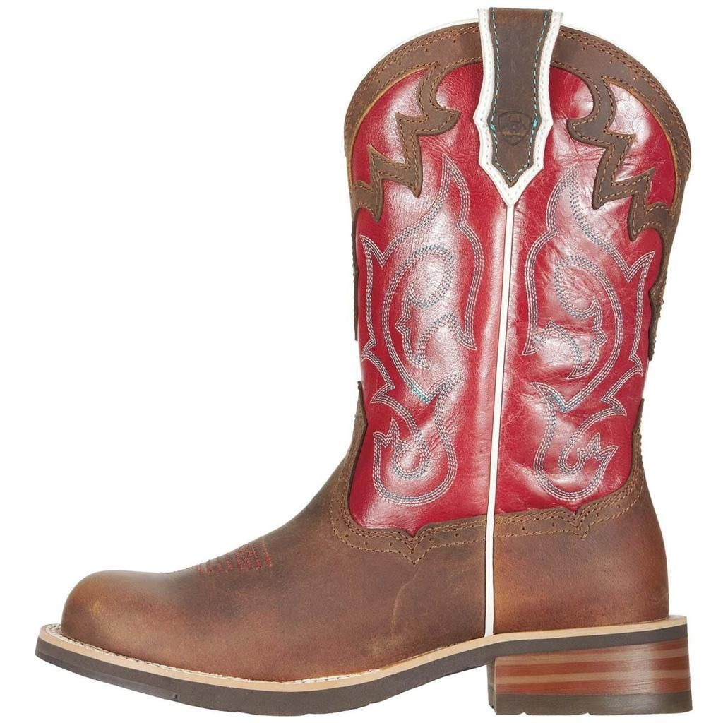 Creative Ferrini Ferrini Cowgirl Cool Stud Women Leather Red Western Boot Boots
