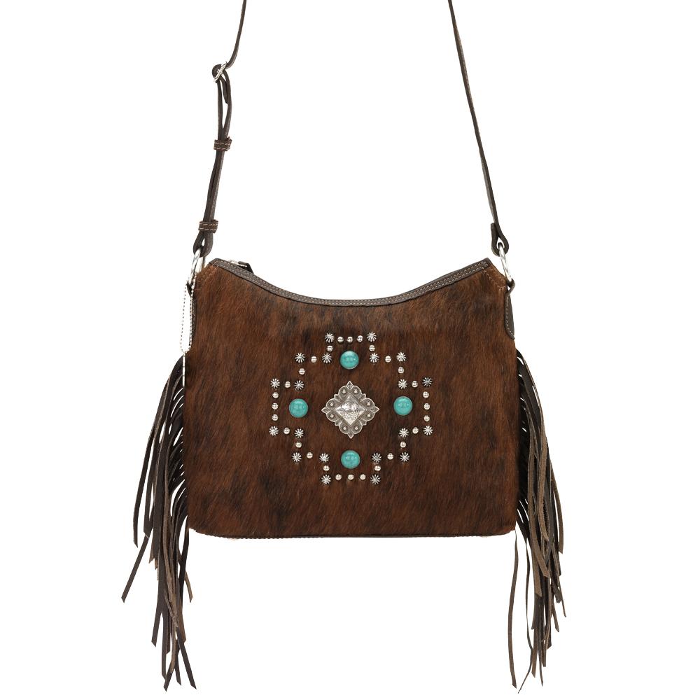american west womens western fringe crossbody shoulder bag