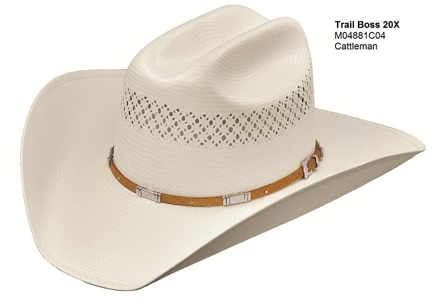 Master Hatters Trailboss Cattleman 20X Straw Cowboy Hat M04881C04  6cae43e8054