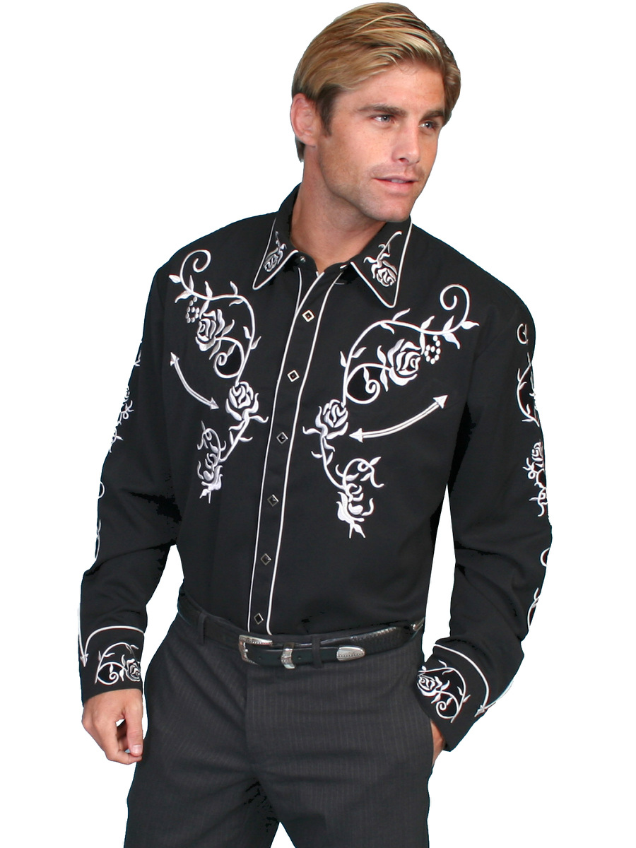 Old embroidered shirt