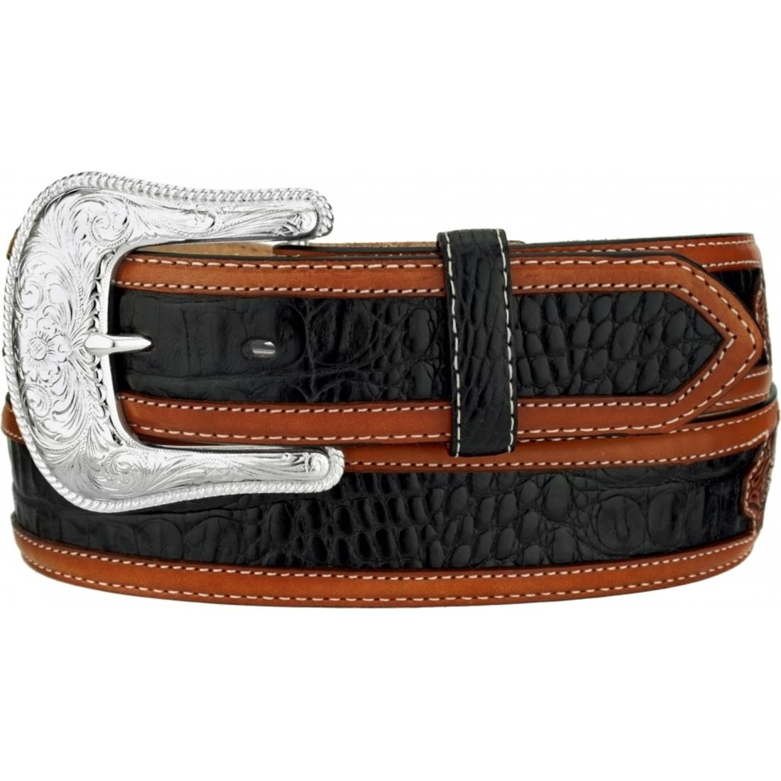 tony lama western mens belt leather black conchos