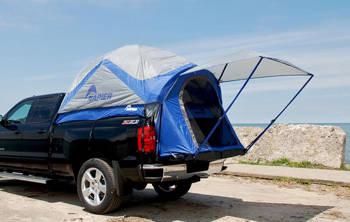 57022 Napier Sportz 57 Series Blue Grey Truck Tent Fits Full Size