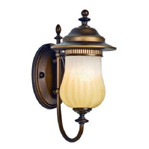 High End Outdoor Wall Sconces : Quoizel Lighting HZ8308VE Verona Americana Outdoor Wall Mount Sconce Lantern, yourplumberscrack ...
