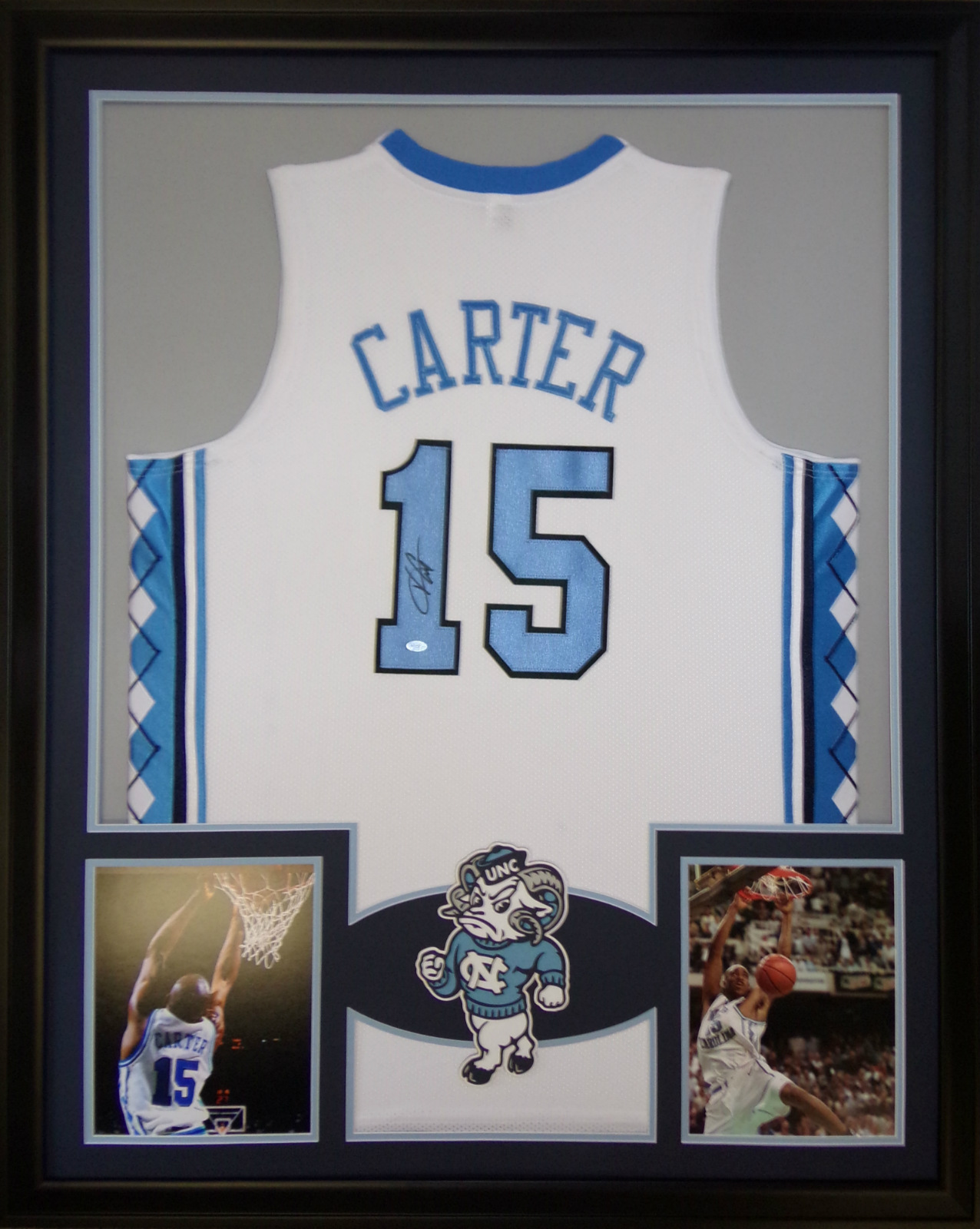 Vince Carter Framed Jersey Signed Mounted Memories UNC North ...