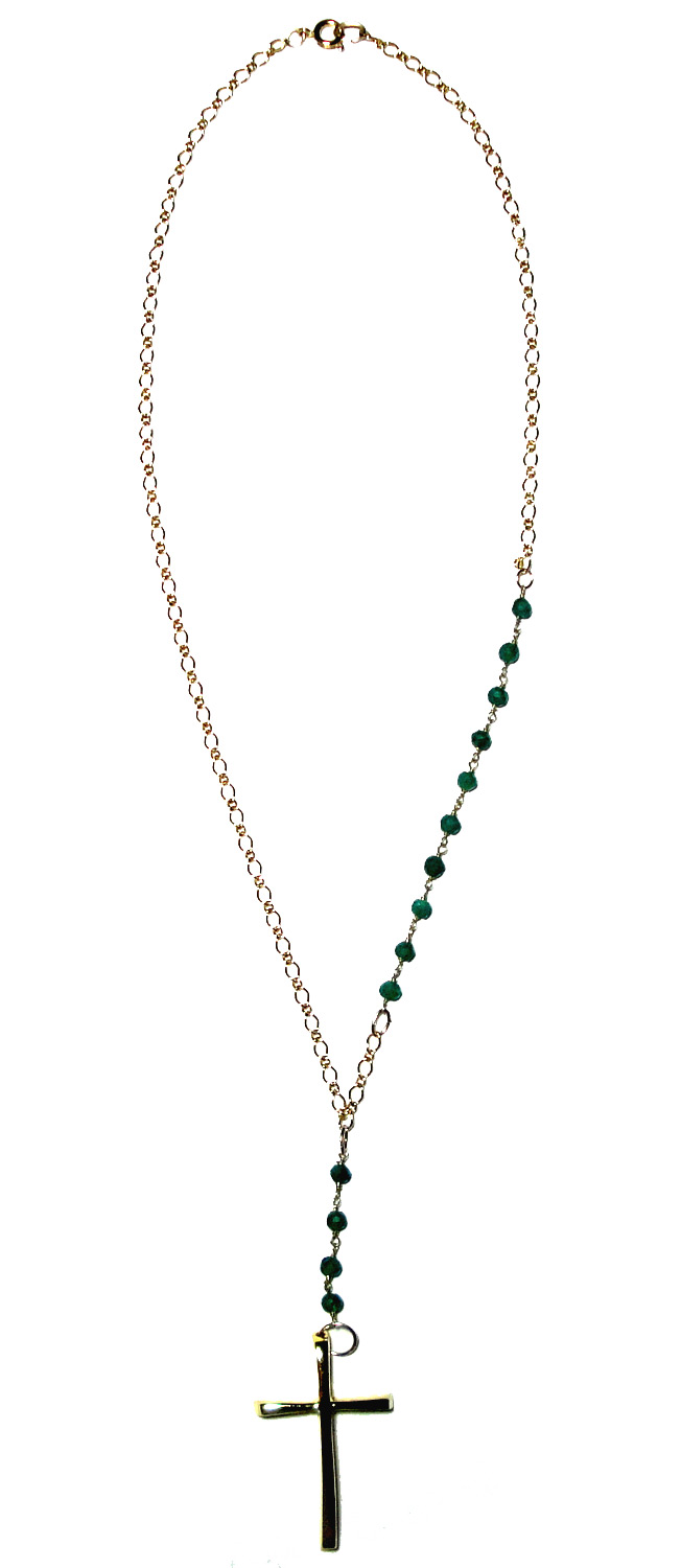 Green Jade Rosary Necklace