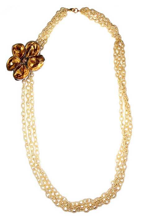 Large Upcycled Rosa Long Necklace